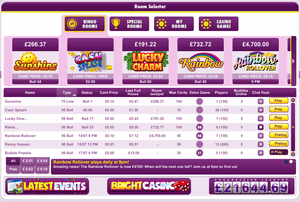 Bright Bingo example of a B live gaming site