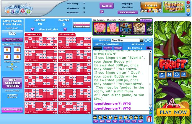 Bubble Bonus Bingo 90 ball example