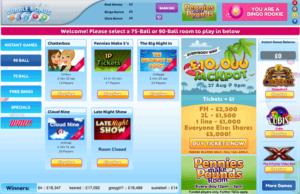 Bubble Bonus Bingo, example of a dragonfish site