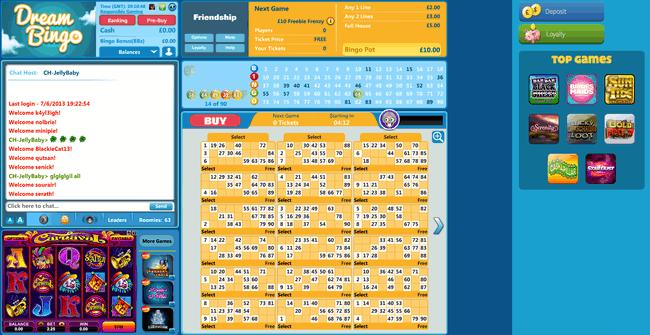 Dream Bingo 90 ball example