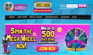 Showreel Bingo website homepage