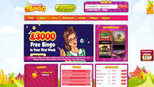 Smooth Bingo website homepage