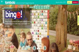 tombola bingo homepage screenshot