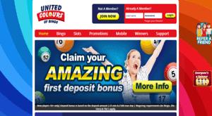 United Colours Of Bingo website homepage
