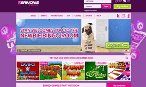 Vernons Bingo website homepage