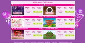vernons bingo website screenshot