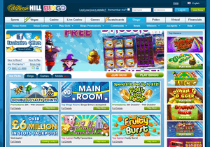 William Hill Bingo website homepage
