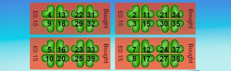 40 Ball Bingo Tickets