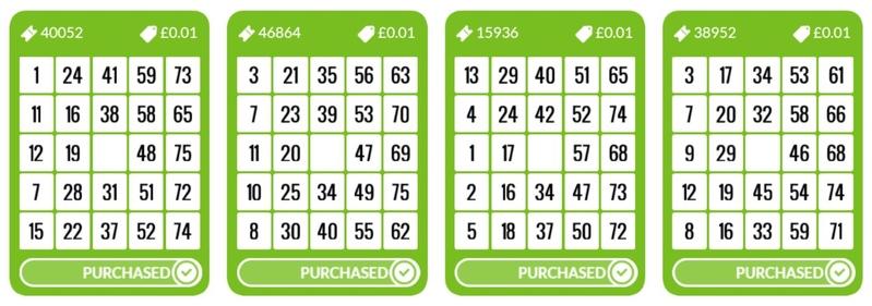 75 Ball Bingo Tickets