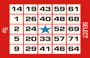 75 ball bingo ticket