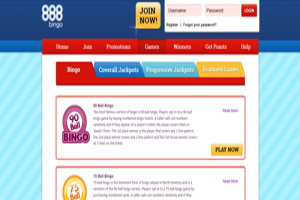 888 bingo website screenshot