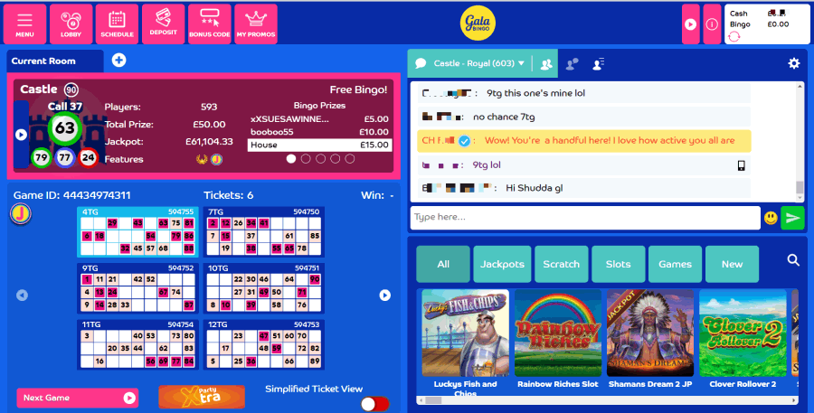 Gala Bingo screengrab