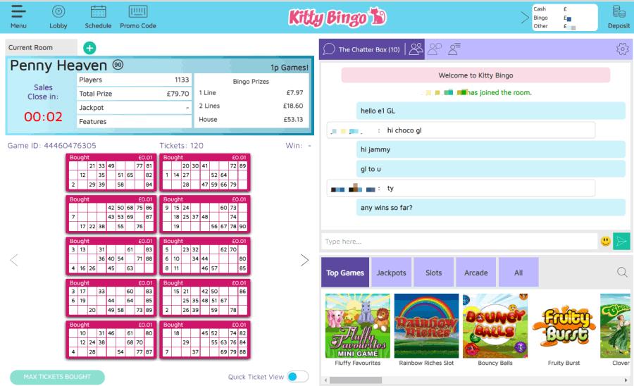 Kitty Bingo screengrab