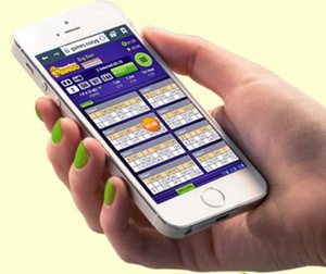 Mobile bingo app screenshot