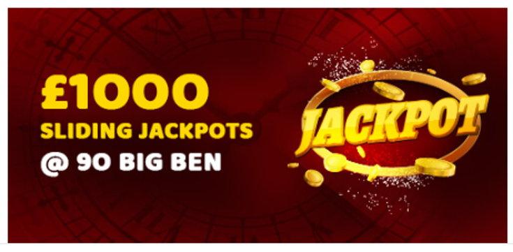 Play2win Bingo jackpot screenshot