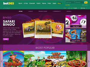Bet365 homepage screenshot