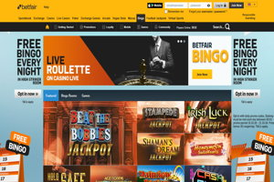 betfair bingo homepage screenshot