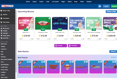betfred bingo screenshot