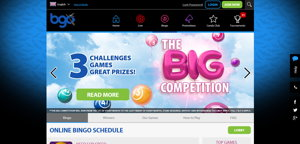 bgo bingo homepage screenshot
