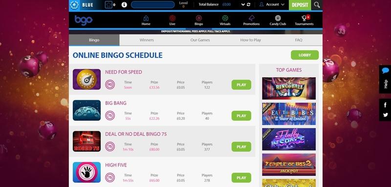 BGO Bingo Website