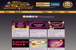 bingo ballroom website screenshot