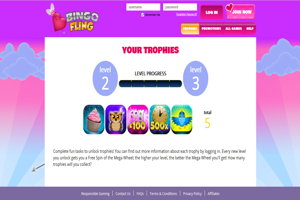 bingo fling website screenshot