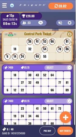 Bingo Game on Mobile