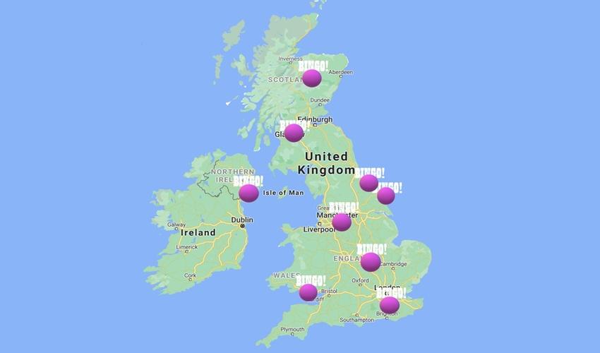 Bingo map UK