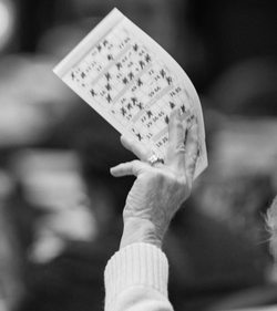 Bingo Player Hand Elderly
