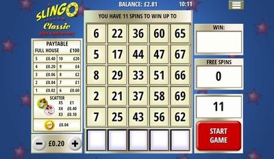 Bingo Side Game Slingo