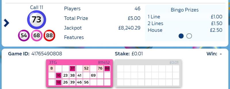 Online Bingo Ticket Being Marked Off