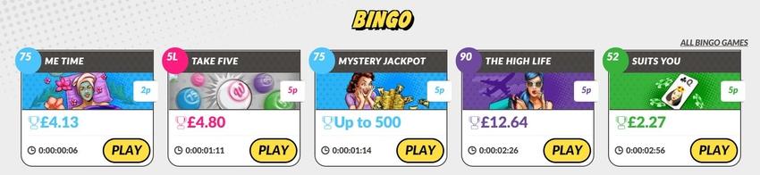 Bingo Ticket Prices