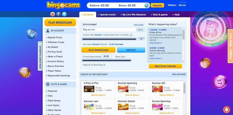 Bingocams Website