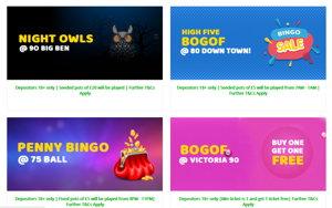 Bobs Bingo promotional page screenshot