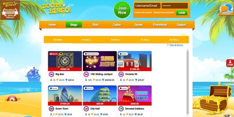 Booty Bingo Website