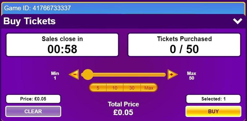 Buy Online Bingo Tickets