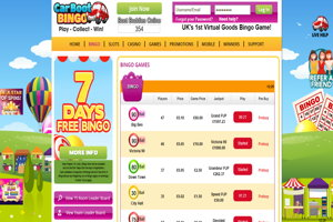 carboot bingo website screenshot