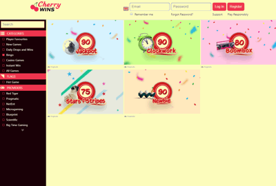 cherry wins bingo screenshot