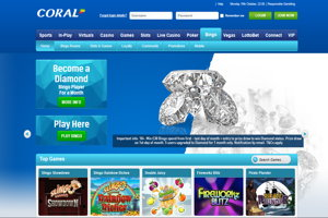 coral bingo homepage screenshot