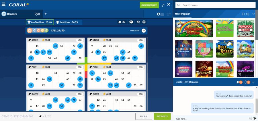 coral bingo screengrab
