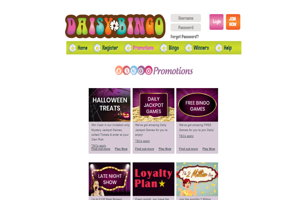 daisy bingo website screenshot