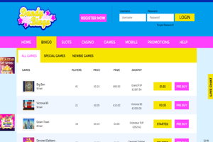 dandy bingo website screenshot