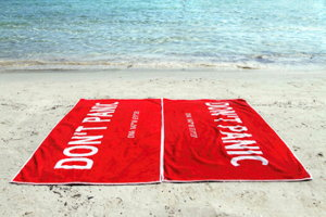 dont panic beach towels screenshot