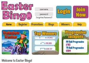 easter bingo screenshot