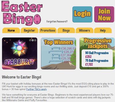 easter bingo screenshot