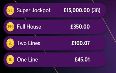Fixed Bingo Jackpot Prize