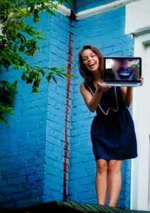 girl on webcam screenshot