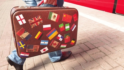 Holiday Suitcase Different Countries