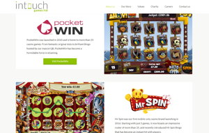 intouch games website screenshot