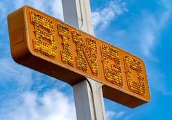 Light Bulb Bingo Sign